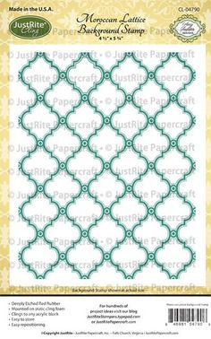 Moroccan Lattice Background Cling Stamp designed by Amy Tedder