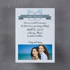same sex We Vow Save the Date Magnet - Female