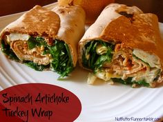 Spinach Artichoke Turkey Wrap