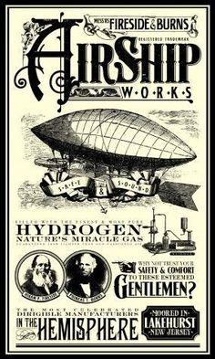Dirigible Steampunk, Steampunk Airship, Dieselpunk, Steampunk Fashion, Vintage Labels, Vintage Ephemera, Vintage Ads, Vintage Posters, Steampunk Images