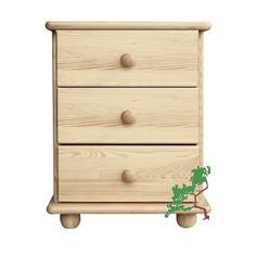 Szafka nocna sosnowa SN04 o wymiarach 42x55x35 wyposażona w trzy szuflady, wykonana z litego drewna sosnowego.