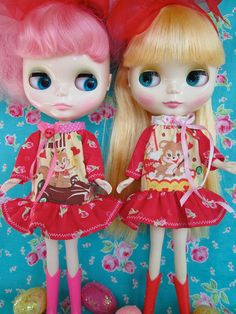 Blythe Dolls.....Sweet Valentine Dress for by KittyKatDance