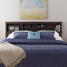 Shop for Everett Espresso King Bookcase Headboard. Get free delivery at Overstock.com - Your Online Furniture Shop! Get 5% in rewards with Club O! - 11127144