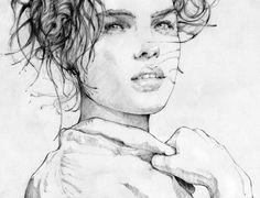 Загадочные эмоции на женских лицах (22 иллюстрации)