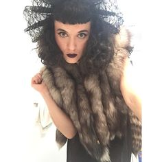"""""""Yay to fall weather and fur finally! (This recycled vintage was a gift from @jackie_schneider_beauty) """""""