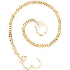 Caine's Handcuff Necklace in Gold/Rose Gold