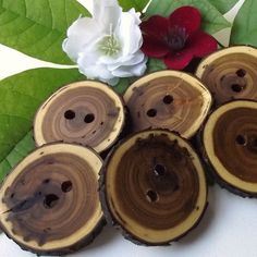 Tree branch buttons, great for those crochet projects!