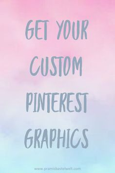 Custom Pinterest Graphics Service! No time for creating Pinterest graphics? I'm here to help. Read more...