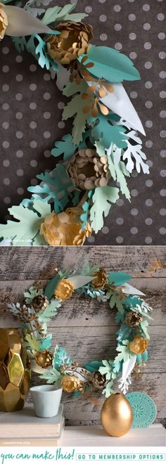 Mini Mum Wreath for Fall (Video) - www.liagriffith.com #diywreath #diywreaths #diyinspiration #diyproject #diyprojects #diyfalldecor #paperflower #paperflowers #paperart #papercut #madewithlia