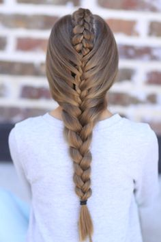 Tuxedo Braid and more Hairstyles from CuteGirlsHairstyles.com