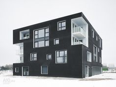 Here's one way to do black windows and black siding.