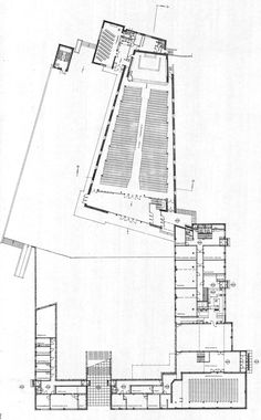 "Lakeuden Risti : ""Cross of the Plains"" church, Seinäjoki Finland Modern Church, Cathedral Church, Alvar Aalto, New York Style, Finland, Floor Plans, How To Plan, Thesis, Branches"