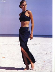 US Harper's Bazaar July 1992 At Length Photo Rico Puhlmann  Editor Kate Moodle  Model Niki Taylor  Hair Madeleine Cofano  Makeup Giana