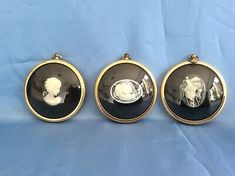 Miniaturbild  3 Stück  Peter Bates England Silhouette Porträt Gemme  | eBay