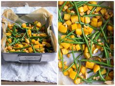 Roasted Rutabaga and Green Beans