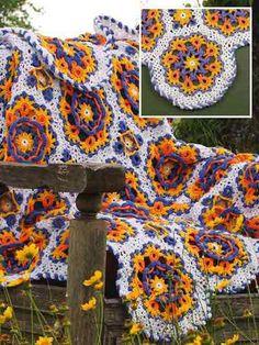 Free Crochet Pattern - Reversible Irish Garden Afghan - Freepatterns.com - Free signup to download.