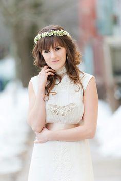 An Indie Wedding Social: Part 2 - Chelsea Lee Flowers - Candace Berry Photography - Halifax, Nova Scotia Wedding - Floral Crown Wedding Show, Wedding Gowns, Floral Crown Wedding, Destination Wedding, Wedding Destinations, 2014 Trends, Indie Fashion, Wedding Styles, Vintage Dresses