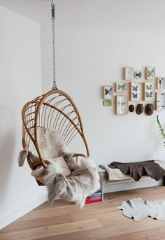 Adorable and Comfy Bedroom Swing Chairs - Cozy Decoration Egg Swing Chair, Swinging Chair, Swing Chairs, Hanging Chairs, Rocking Chair, Comfy Bedroom, Bedroom Chair, Master Bedroom, Indoor Swing