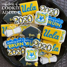 Congrats to Ben...something GREAT is BRUIN!  #ucla2024 #acookieaddict Addiction, Sugar, Cookies, Desserts, Food, Tailgate Desserts, Biscuits, Deserts, Essen