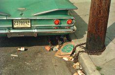 From Los Alamos, Folio 4, Louisiana ca 1971-74, blue green car, blue green box