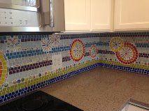 Kitchen backsplash project with mosaic tiles