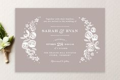 """Sun Bleached Florals"" - Floral & Botanical, Rustic Wedding Invitations in Blackboard by Jennifer Wick. Rustic Wedding, Our Wedding, Dream Wedding, Wedding Ideas, Party Wedding, Wedding Stuff, Wedding Inspiration, Design Inspiration, Rehearsal Dinner Invitations"