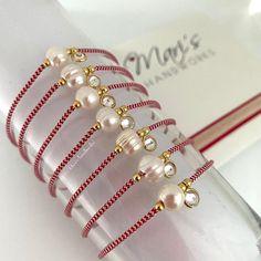Jewellery Diy, Bobby Pins, Silver Jewelry, Hair Accessories, Pearls, Bracelets, Red, Instagram, Silver Jewellery
