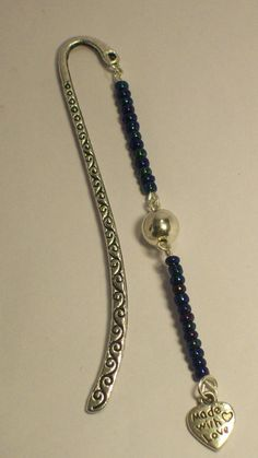 Beaded Bookmark...i have this bookmark - i can just add the beads!