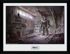 Fallout 4 - Red Rocket Interior - Big Framed Collector Print