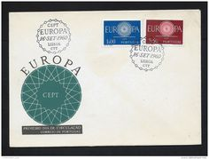 FDC - EUROPA CEPT - 1960 - PORTUGAL - ** - Delcampe.net Portugal, Preston, Stamps, Auction, Seals, Stamping, Postage Stamps, Stamp