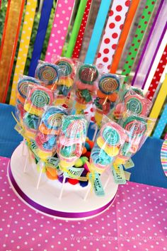Candy skewers by Sweets Indeed + circus ticket tied on
