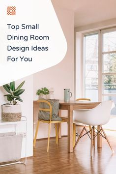 Whether you have a separate dining room or just a little dining nook in your kitchen or living room, these small dining room designs will inspire you to transform your dining space into a warm and inviting dining room.
