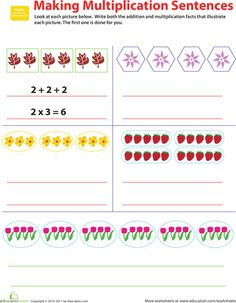 math worksheet : repeated addition multiplication and addition worksheets on pinterest : Multiplication Repeated Addition Worksheet