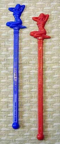 Vintage Cheesecake Swizzle Sticks, 6 Inches, Wiltrout's Bar, Kutztown, PA.