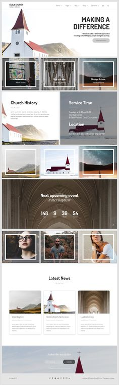 Buy Scala - Multipurpose Theme by maskan on ThemeForest. Scala is Powerful Multipurpose Theme Scala is a clean Multipurpose cross browser compatible, retina ready, responsive. Layout Download, Bootstrap Template, Homepage Design, Church Design, Web Design Inspiration, Design Ideas, Website Layout, Layout Design, Ui Design