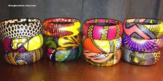 African Fabric Bangles