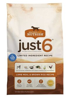 Rachael Ray Nutrish Just 6 Natural Dry Dog Food, Lamb Meal and Brown Rice Recipe * Read more reviews of the product by visiting the link on the image. (This is an affiliate link) #MyDog