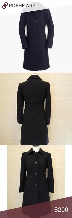 J Crew wool lady coat J Crew black wool lady coat. Thinsulate material (super warm). Only worn 5x. In great condition. Like new! Love it, but it's too small for me now :( No trades. J. Crew Jackets & Coats Pea Coats