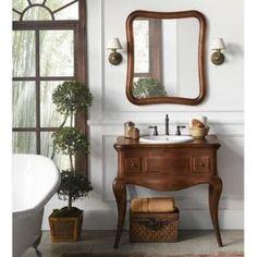 Ronbow Corsica Single Bathroom Vanity Set with Mirror Bathroom Vanity Base, Vanity Set With Mirror, Small Bathroom, Vanity Cabinet, Bathroom Vanities, Wood Vanity, Antique Bathroom Decor, Bathroom Ideas, Rustic Bathrooms