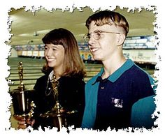 "Tiffani McCoy and Michael Fagan 1997 Teen Masters National Finals. Yes, it's the same Mike Fagan ""The King of Swing""!"
