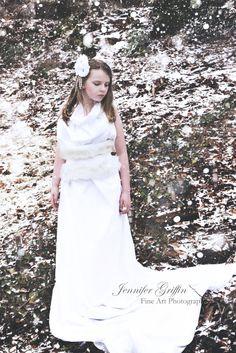 Schneekönigin weiß Fascinator Schnee Elfe Fee Winter Hochzeit