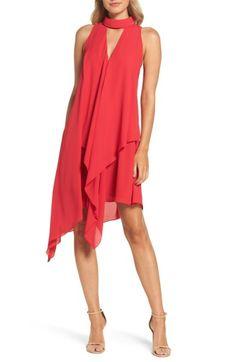 a90b6b7c5c0b Maggy London Asymmetric Hem Shift Dress (Regular   Petite)
