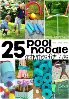 Finding ways to keep summer cool is hard, but these 25 super cool pool noodle activities are a fun as the summer days are hot. Stay cool!