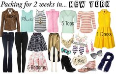 """Packing for 2 weeks in.... New York"" by fashion-by-k on Polyvore"