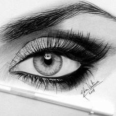 Made up eye
