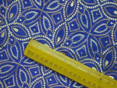Indian Fabric Blue Brocade Fabric by the yard Banarasi Wedding
