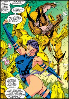 Psylocke (and Wolverine) by Jim Lee from X-Men #1 (1991)