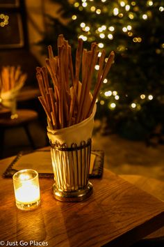 Breadsticks at Peasant, a fine dining restaurant in NYC serving up rustic Tuscan Italian food.