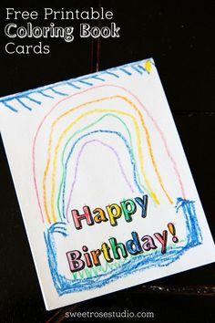 Free Printable Coloring Book Cards at Sweet Rose Studio