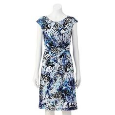 212 Collection Printed Knot-Front Dress - Women's